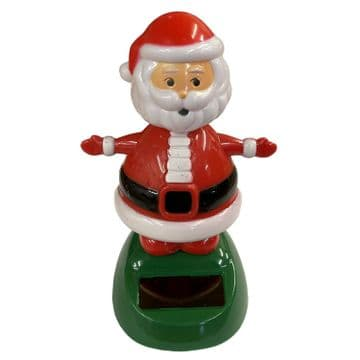 SOLAR DANCING FATHER CHRISTMAS - SANTA CLAUS xmas decoration ornament toy